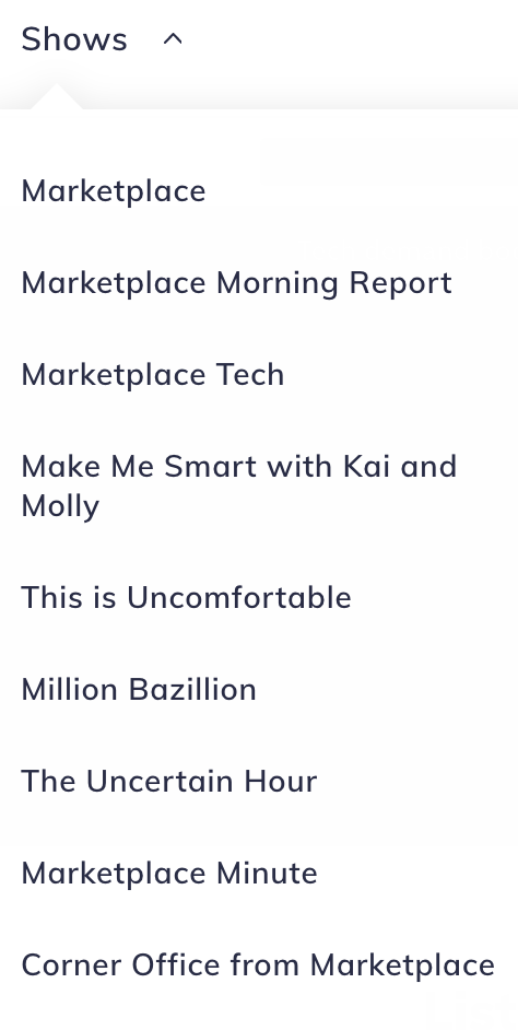 This is a list of Marketplace podcasts